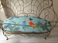 Mudo concept ferforje ikili bahçe-balkon koltuğu resmi