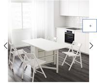 Ikea norden yemek masası resmi