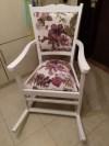 Marangoz İşi Yenilenmiş Sallanan Masif Lake Sandalye resmi