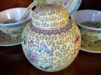Vintage çin malı süper dekoratif set resmi