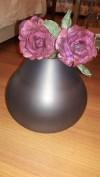 Mudo Büyük Gri Cam Küp Vazo
