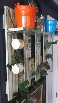 Dekoratif el boyama mutfak retro raf