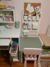 Ikea trofast duvar rafı, beyaz ölçü : 99x21x30 cm + 4 trofast saklama kutusu  resmi