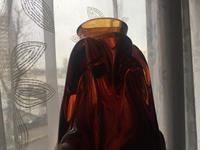 Ağır murano cam vazo italyan ustalardan - her zaman rastlanmayan formda özel resmi