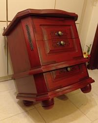 Antika masif  indian tasarım komodin / sehpa resmi