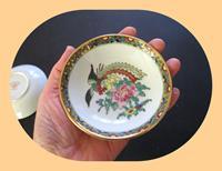 Çin, el boyaması damgalı çift mini dekoratif tabaklar resmi