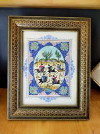 İran Mensei Hatem Sanatı Çerçeveli Minyatür