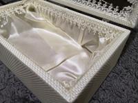 Kaliteli örmeli ışlenmiş kutu dekoratif resmi