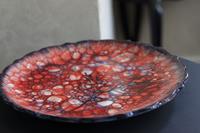 Ebruli laleli tabak resmi