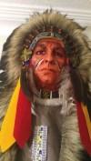 Amerika dan Gerçek Gibi Büyük Kızılderili Maske ve Ok-Yay Takımı