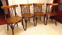 1960 lar komple yenilenmiş antika thonet sandalyeler resmi