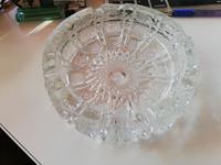 3 adet vintage büyük kristal küllük