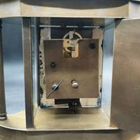 Mine işlemeli kurmalı vintage şömine saati  resmi