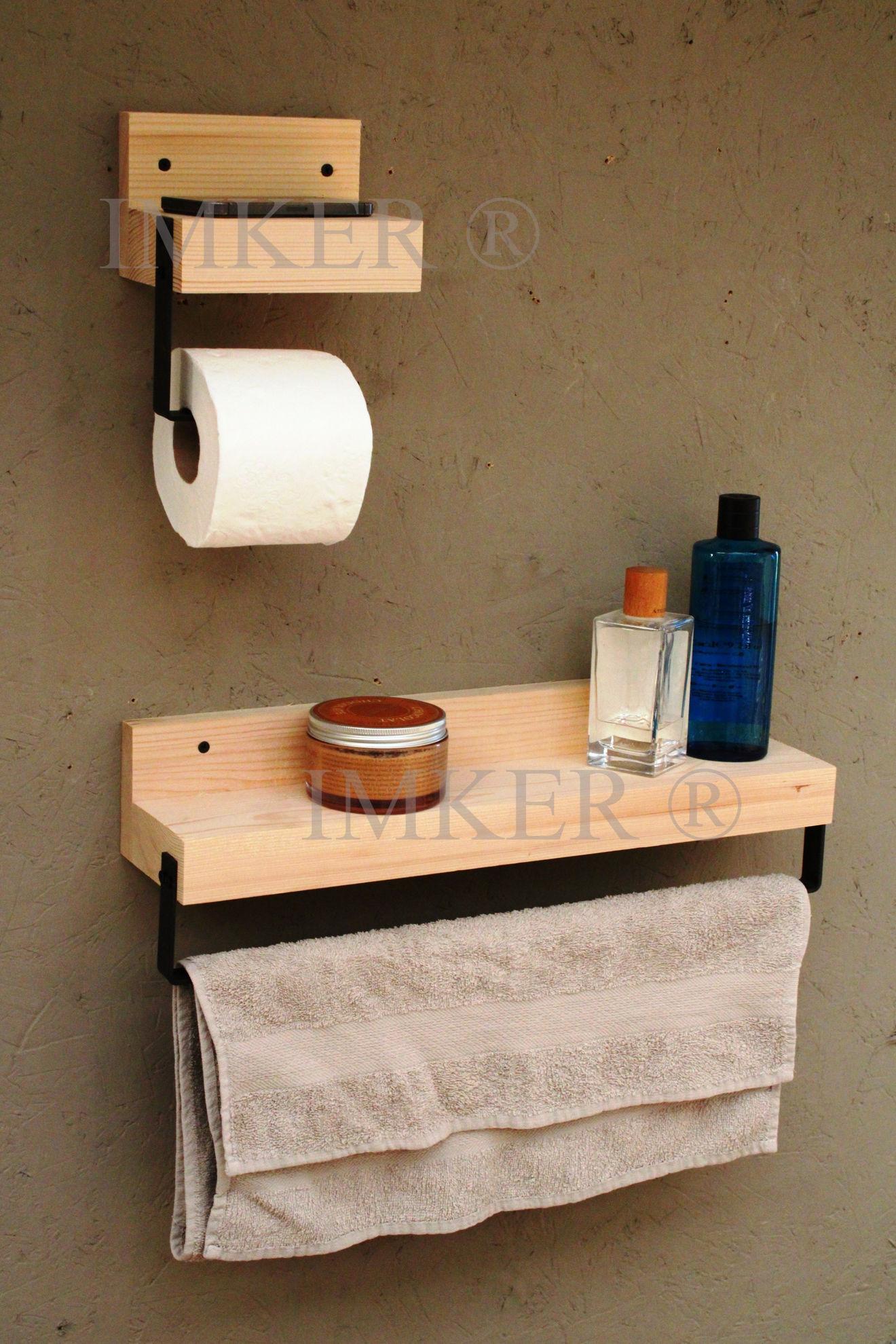 Imker ahşap wc kağıtlık tuvalet kağıtlığı tuvalet kağıdı askısı kağıt havluluk 2li banyo organizer 5334469 resmi