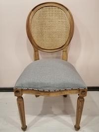 Madalyon hasırlı retro pine sandalye