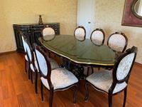 Gül ağacından özel yapım yemek masası takımı