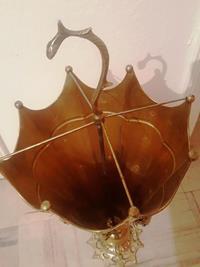 Çok eski antika pirinç şemsiyelik... 66 cm yükseklik 25 cm çapında... resmi