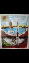Sanatçı Belde Akyol imzalı yağlıboya tablo