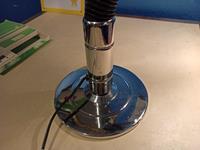 Retro deko tarzda metal endüstriyel masa lambasi aydinlatma resmi
