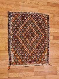 Vintage sivas cicim kilim resmi