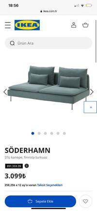 Söderhamn 3 'lü kanepe resmi