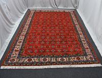 7 m2 el dokuma foça kırmızısı burdur sümerbank yün salon halısı 1575 resmi