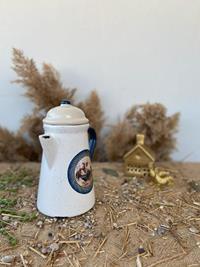 Seramik kapaklı sürahi- horozlu krem resmi