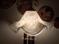 İtalyan murano camlı büyük boy abajur/gece lambası resmi