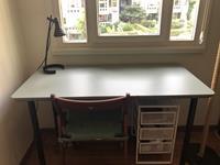 Ikea mint renkli çalışma masası resmi