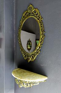 Elli Yıllık Antika Ayarında Aynalı Tırnak resmi