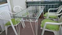 Ferforje balkon masası ve 4 sandalye resmi