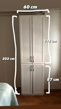2 kapılı bol çekmeceli gardırop resmi
