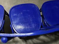 4 adet thonet sandalye mavi renk  resmi