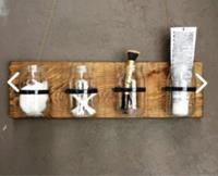 Imker çok amaçlı banyo düzenleyici ahşap tasarım duvar organızer raf 5334357 resmi