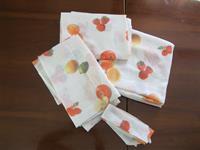 Sandıktan kullanılmamış meyve desenli mutfak briz perde takımı resmi