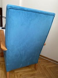 Bondi mavisi renginde berjer resmi