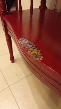 Antika çiçekli zarif eskitme dresuar / tv sehpasi resmi