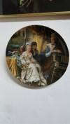 Eskilerden Avrupa porselen duvar tabağı