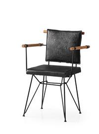 Penyez siyah sandalye resmi