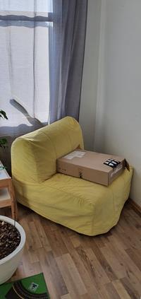 Ikea lycksele tek kişilik yataklı koltuk resmi