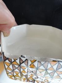 Seramik el yapımı dua yazılı kapaklı kutu resmi