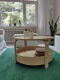 Ikea borgeby ahşap orta sehpa resmi