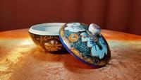 Çin porselen kapaklı kase