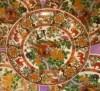 Antika Damgalı Çin Porseleni Dekoratif Tabak-3 resmi