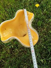 Murano sarı opalin vazo resmi