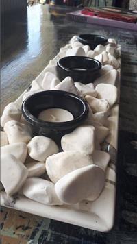 Porselen taşlı mumluk