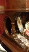 Antika muhteşem ceviz oymalı konsol dolap resmi