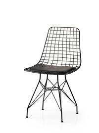 İnka siyah tel sandalye