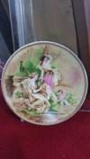 Antika ingiliz mini duvar tabağı