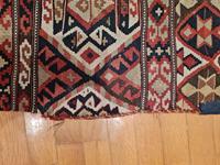 Anadolu el dokuma kilim - vintage resmi